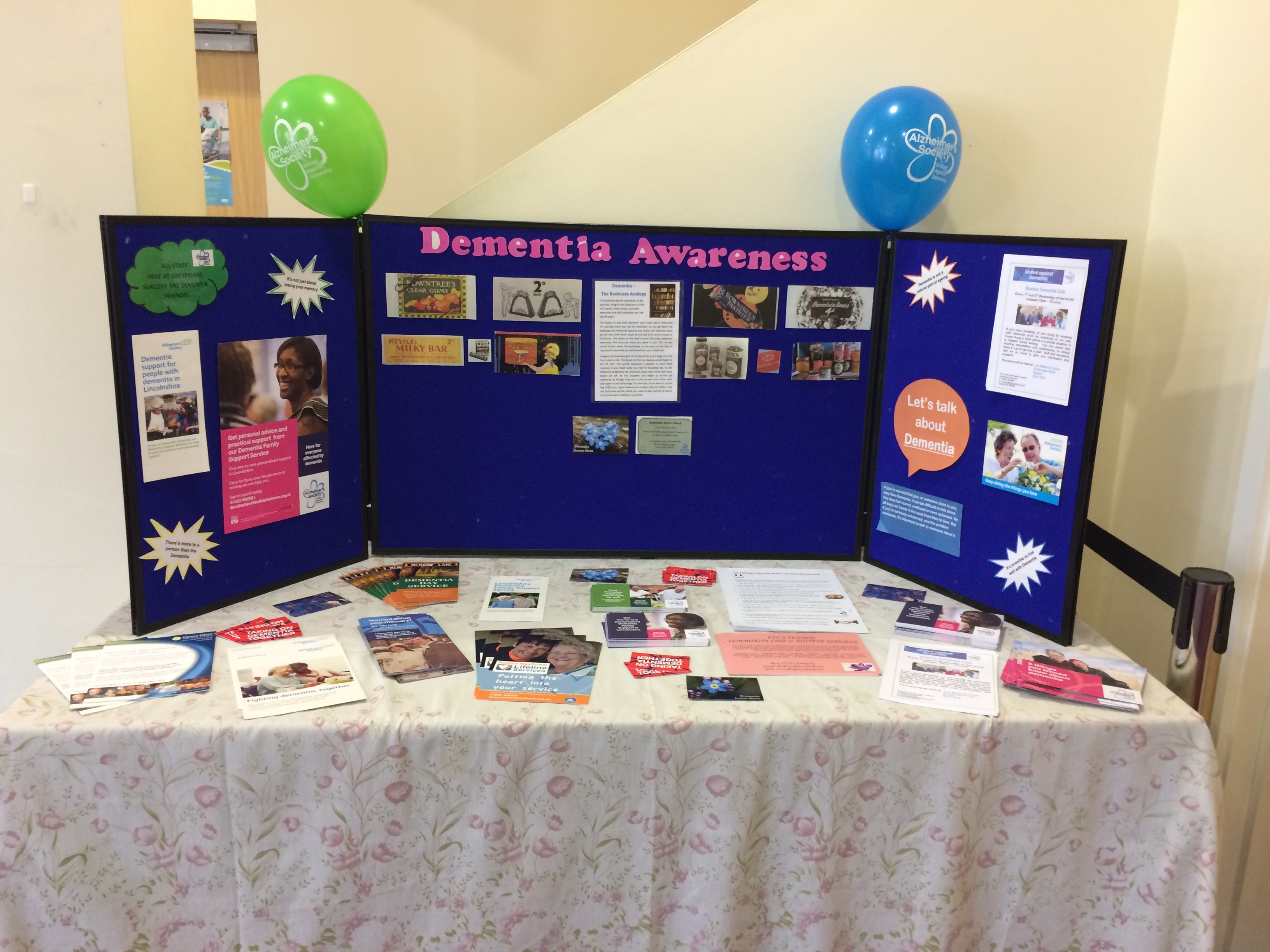 Dementia Awareness Table
