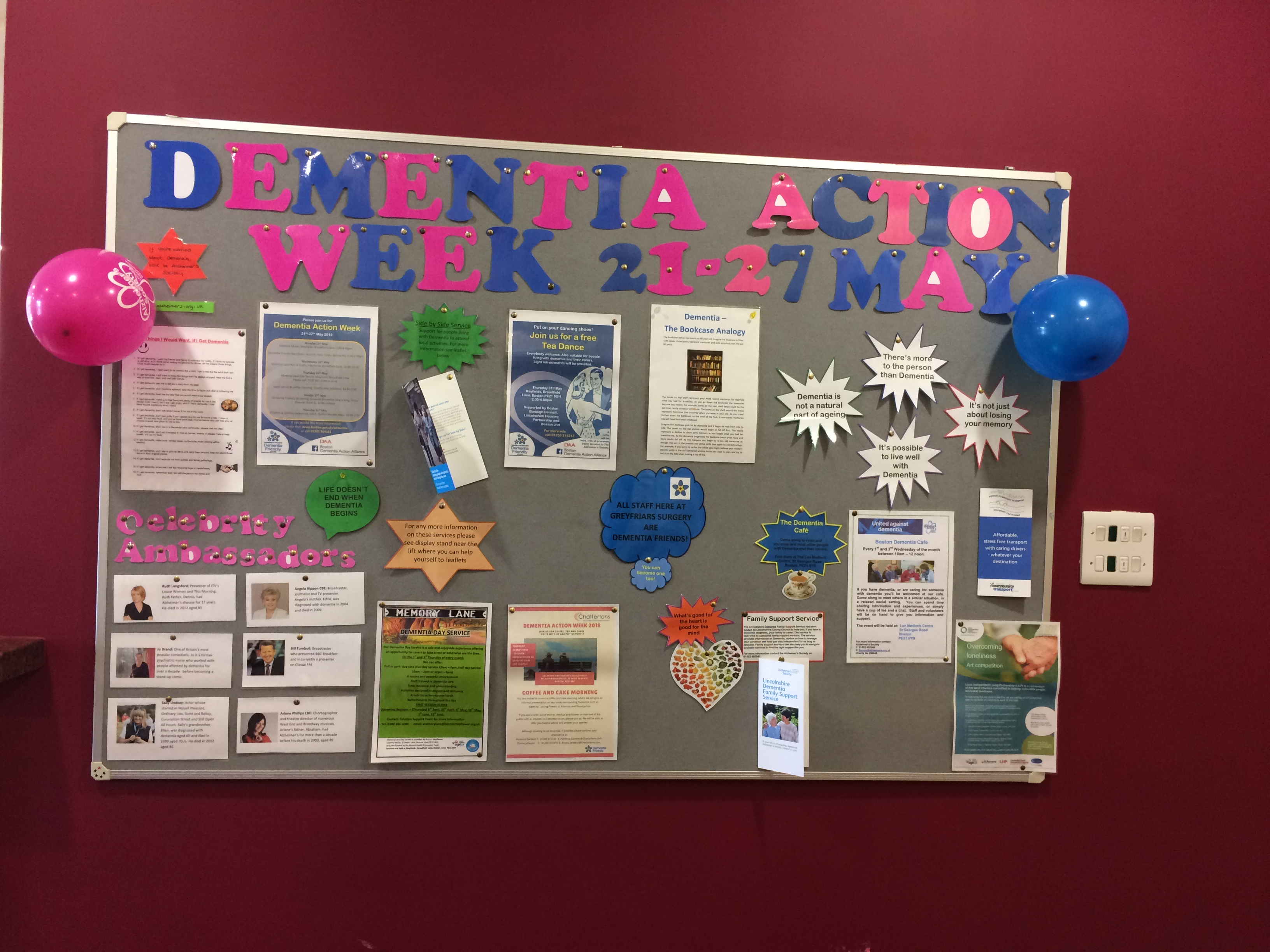 Dementia Action Week Notice Board