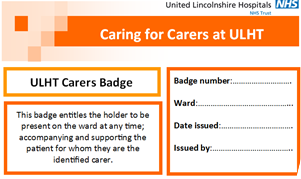 Caring for carers badge